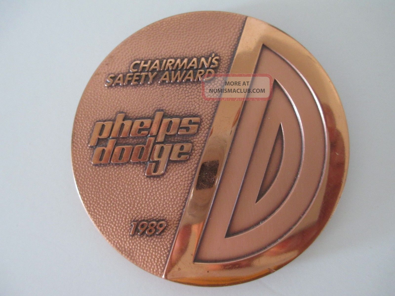 Vintage Phelps Dodge Morenci Mining - Copper Medallion Stocks & Bonds, Scripophily photo