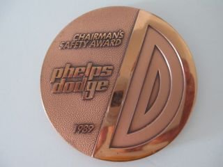 Vintage Phelps Dodge Morenci Mining - Copper Medallion photo