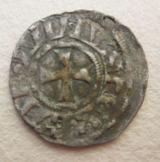 Crusader Silver Coin Baldwin Iii Jerusalem Archaeology photo