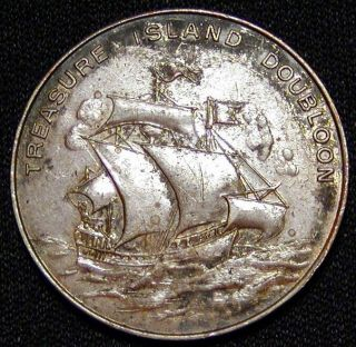 1926 Philadelphia World's Fair Souvenir Medal Treasure Island Doubloon Look photo