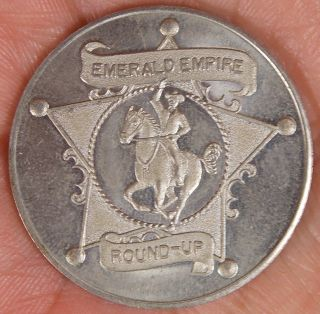 Vintage 1961 Emerald Empire Round - Up Eugene Oregon Good For 25¢ In Trade Token photo