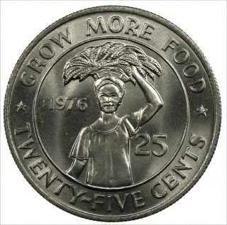 Liberia 25 Cents,  1976,  Fao Coin photo