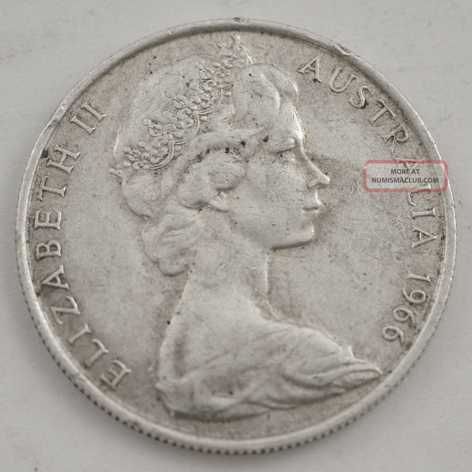 1966 Australia 50 Cent Silver Coin