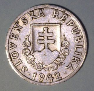 Slovakia 20 Halierov 1942 Extremely Fine Aluminum Coin photo