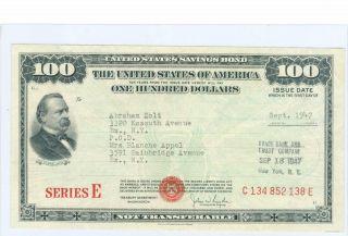Series E Savings Bond photo
