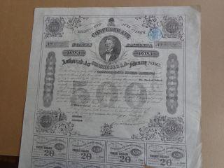 Confederate States Of America Loan 500$ 1863 photo