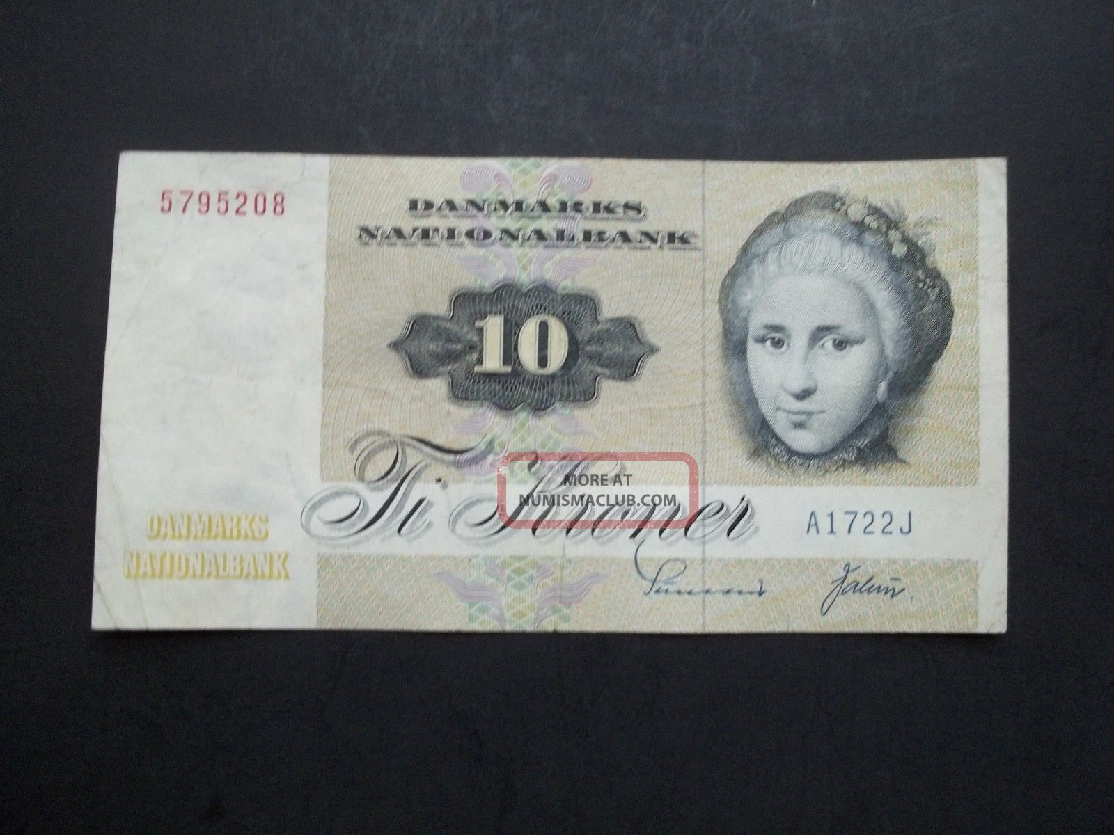 Denmark 10 Kroner Note,  1972,  Issue,  Circulated,  Paper Money, Europe photo
