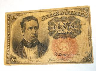 1874 William Merideth 10 Cent Fractional Currency Note,  5th Issue photo