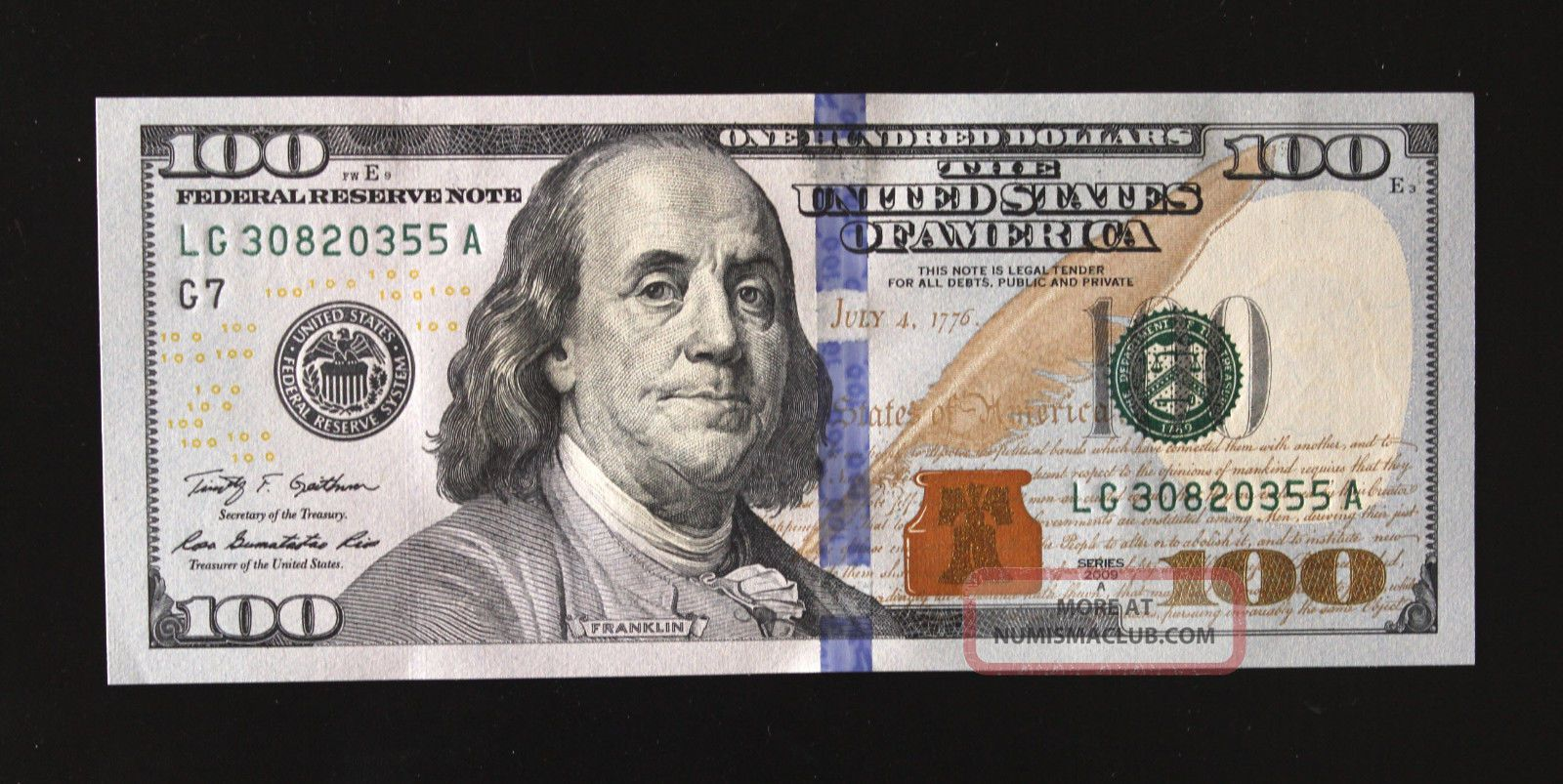 !$100 Bill 2009 series! One Hundred Dollar Bill Circulated to Uncirculated