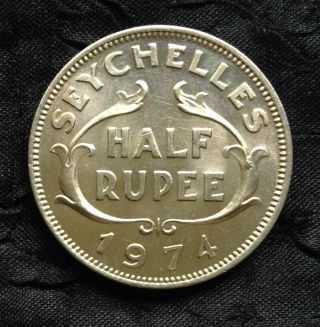 Seychelles 1/2 Rupee Unc. ,  1974 photo