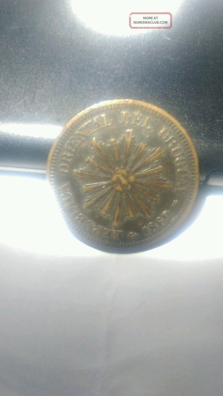 1869 A Uruguay 2 Centesimos Ngc Ms 63 Bn Unc Bronze Dark Chocolate Patina South America photo