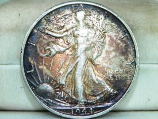 1944 S Silver Walking Liberty Half Dollar.  50c San Francisco photo