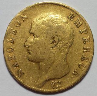 An13 - A (1804 - A) France 40 Franc Gold Coin.  3734 Agw - 1 Cent Start - photo
