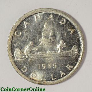 1955 Canada Silver Dollar (ccx5965) photo
