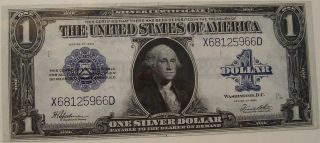 1923 U.  S.  - Silver Certificate - Large Note - One Dollar - Fr - 237 photo