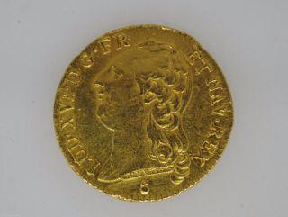 France: Louis Xvi Gold 1 L ' Dor Very Low Mintage 1786 Aa.  235 Agw 31 photo