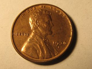 1936 S Lincoln Wheat Cent Penny In Bu Uncirculated photo