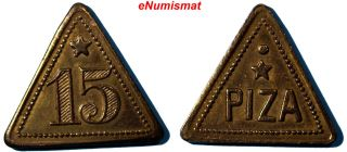 Costa Rica Benjamin Piza Token Nd Brass 15 Triangle15 Mm Rulau - Cto 40 photo
