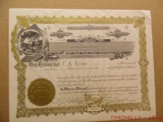 1924 Park Prospecting Co Livingston Montana Mining Stock Certificate Gold Silver photo
