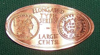 Ada - 5: Vintage Elongated Cent: Elongated Type Series / Large Cents - 1793 Lg Cent photo