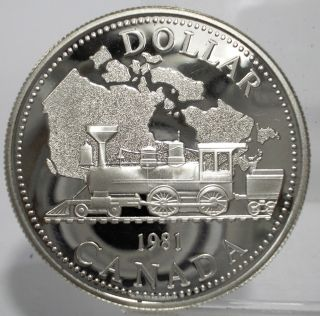 Canada 1981 Dollars Transcontinental Railroad Large Proof Silver Coin Unc photo