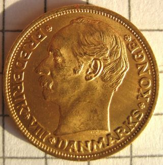Denmark 10 Kroner,  1909,  Frederik D.  Viii - Au photo