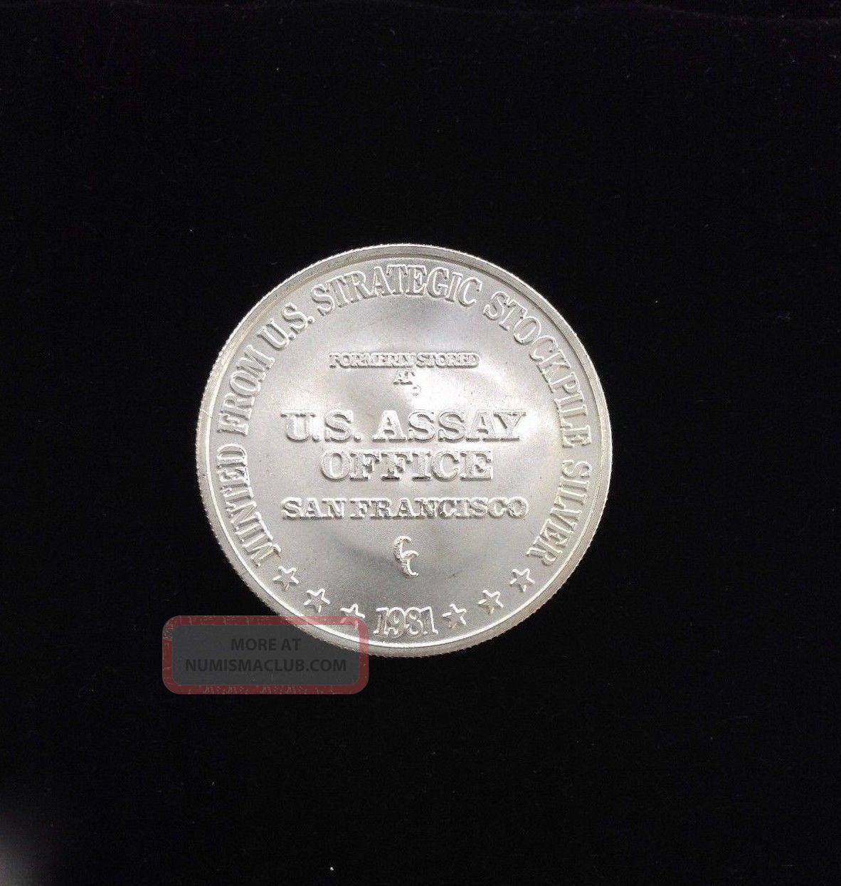 Vintage 1981 U S Assay Office San Francisco 1 Oz 999
