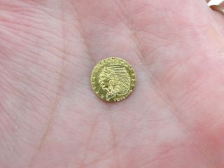 9kt Yellow Gold Miniature 10mm Fantasy Token Medal photo