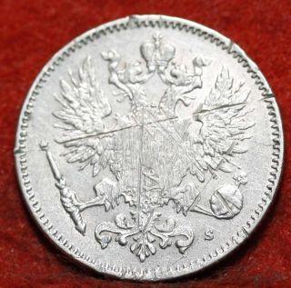 Circulated 1889 Finland 3 Pennia Foreign Coin S/h photo