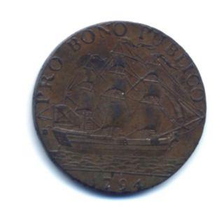 1794 Conder Token; Pro Bono Publica Halfpenny; D & H 59 Warwickshire Birmingham photo