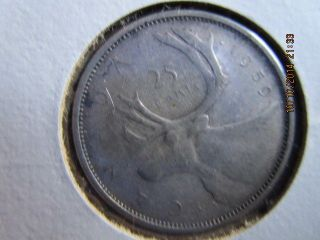 Canadian 1959 25 Cent Coin photo