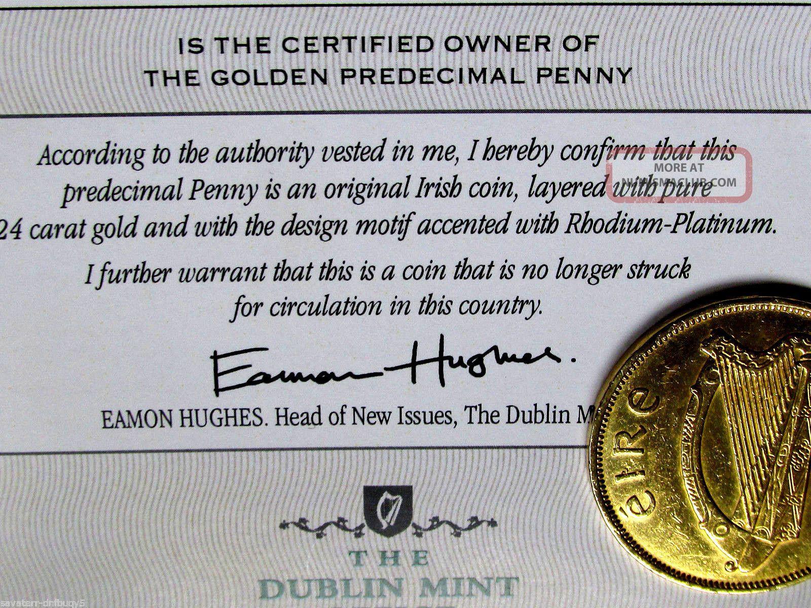 Irish Penny Platinum & 24k Pure Gold Layered Proof