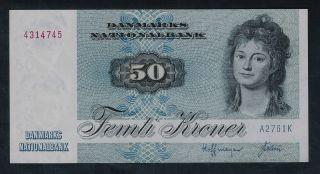 Denmark Banknote 50 Kroner 1972 Series Unc photo