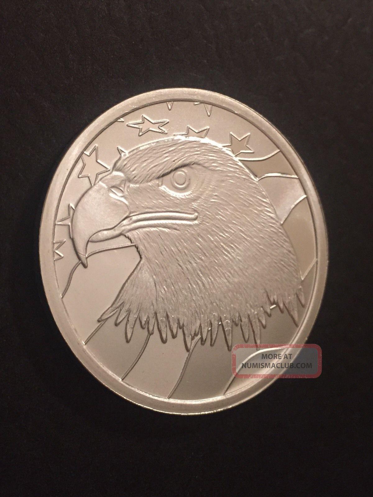1 Oz Silver Round American Eagle Pledge Of Allegiance