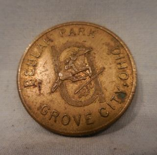 1920 ' S Beulah Park Grove City Oh Horse Race Grandstand Admit Token photo