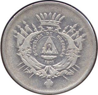 1871 Honduras Ar 50 Centavos,  1 Yr.  Type - Af photo