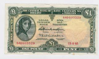Ireland - One (1) Pound,  1965 photo