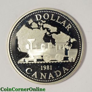 1981 Canadian Proof Silver Dollar Train (ccx5968) photo