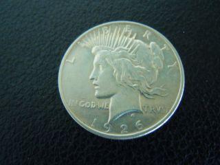 1926 - D,  Au/bu,  Peace Dollar