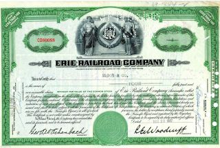 1947 Erie Railroad Company (4 Shares) Stock Cancelled Certificate photo