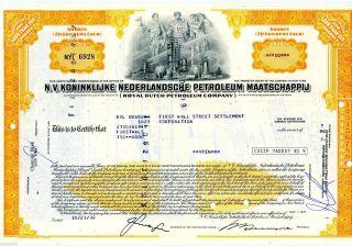 N.  V.  Koninklijke Nederlandsche Petroleum (16 Shares) 1978 Stock Canc Certificate photo