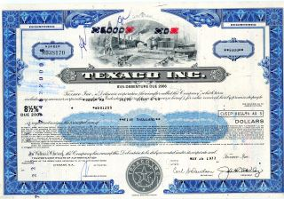 Texaco Inc.  (5,  000 Shares) 1977 Stock Cancelled Certificate photo