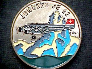 Congo Republic 1995 100 Francs,  Junkers Ju 52 Airplane,  Multicoloured,  Unc photo