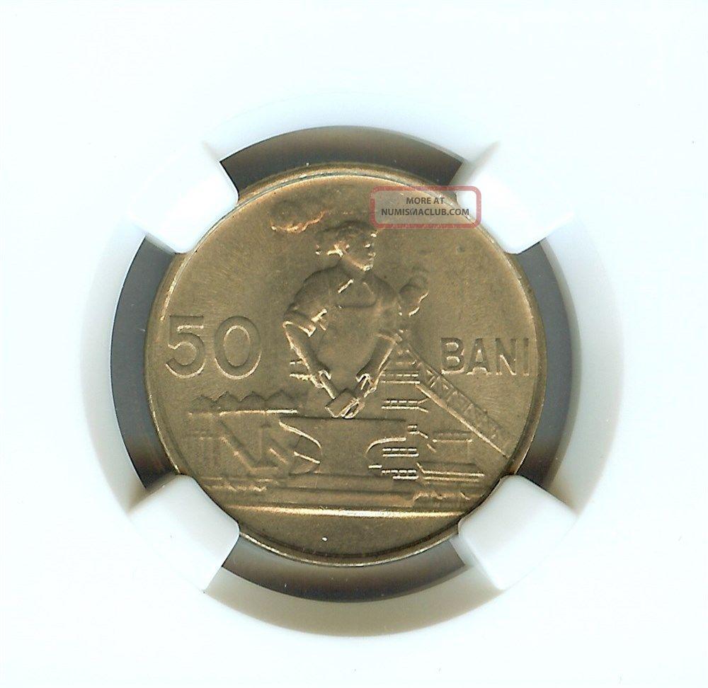 Romania 1956 50 Bani Ngc Ms65 India photo