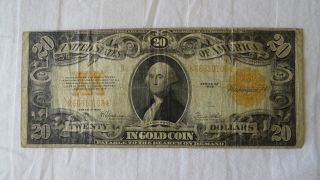 1922 $20 Gold Certificate Fr - 1187 - photo