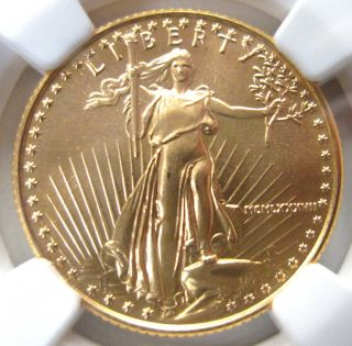 1987 United States 1/4 Oz Gold $10 American Eagle Ngc Ms69 Unc photo