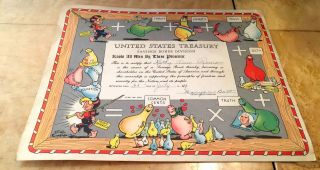Al Capp Shmoo 1949 Us Savings Bond Certificate photo