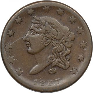 1837 Liberty 13 Stars / Millions For Def - Ht - 35 /low - 21 - R3 - Vf,  Neat Die Crk photo