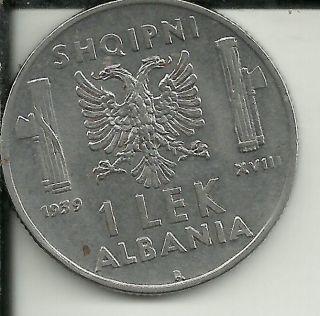 Albania Lek,  1939 Km 31 Mintage 2,  100,  000 photo