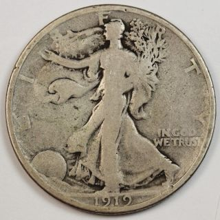 1919 - P Walking Liberty Half.  V.  G. photo
